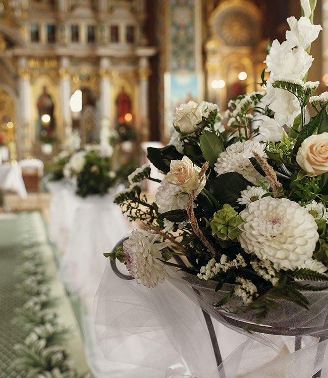 Addobbi floreali matrimonio religioso