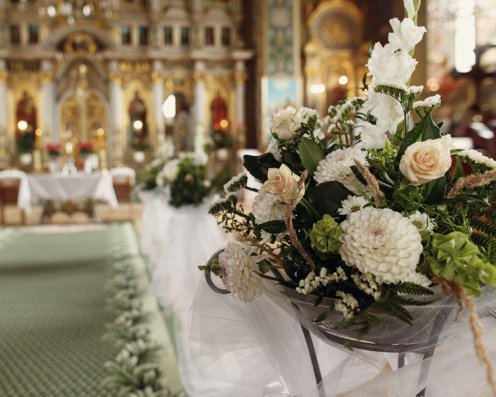 Allestimento floreale matrimonio religioso