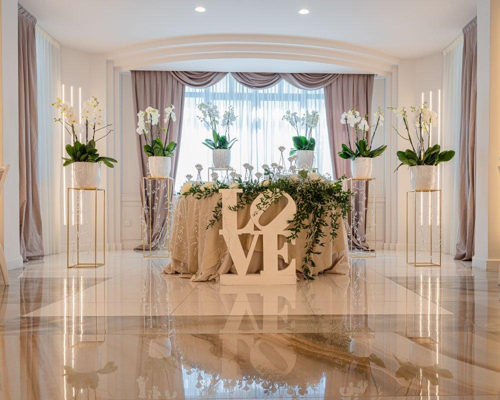 Tavolo degli sposi wedding