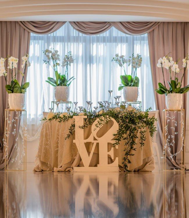 Allestimeto sala wedding